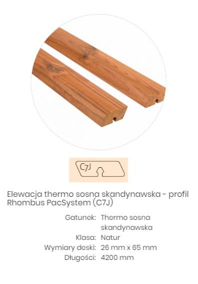 thermo drewno sosna skandynawska