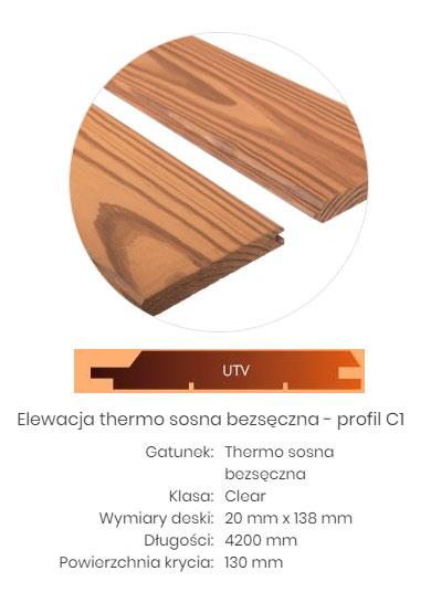 thermo drewno elewacja sosna