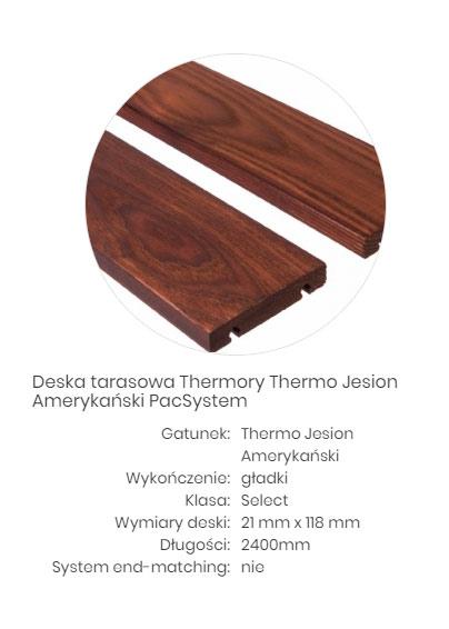 deski tarasowe thermo drewno
